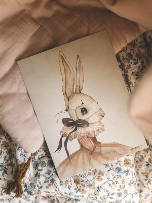 Poster_print_Kids_room_rabbit_Miss_Iris_Mrs_Mighetto