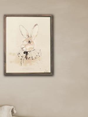 Poster_print_akvarell_konst_kanin_Mrs_Mighetto
