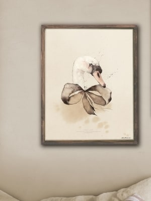 Artwork_poster_print_swan_watercolor_Mrs_Mighetto