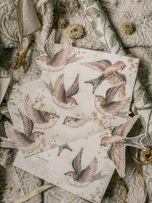 Birds_sparrows_wall_decorations_diy_paper_cutouts_Mrs_Mighetto