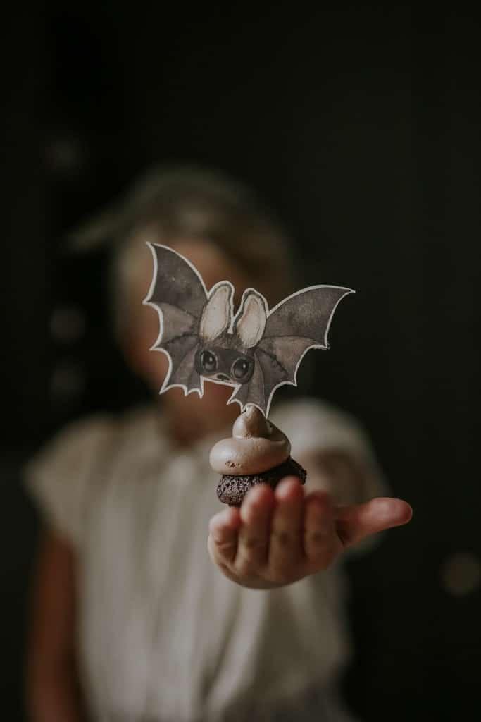 Halloween_cupcake_with_bats_decoration