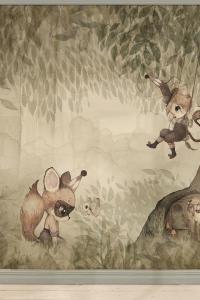 wallpaper_green_forest_kids_room_Mrs_Mighetto