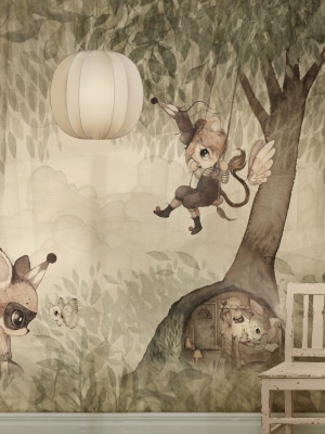wallpaper_green_forest_kids_room_Mrs_Mighetto
