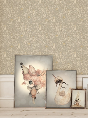 wallpaper_animals_leaves_kids_room_Mrs_Mighetto